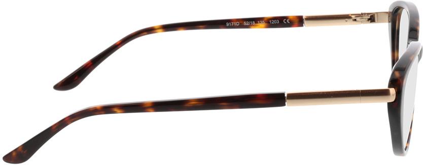 Picture of glasses model Gloria bruin gevlekt/Goud in angle 90
