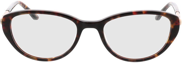 Picture of glasses model Gloria bruin gevlekt/Goud in angle 0