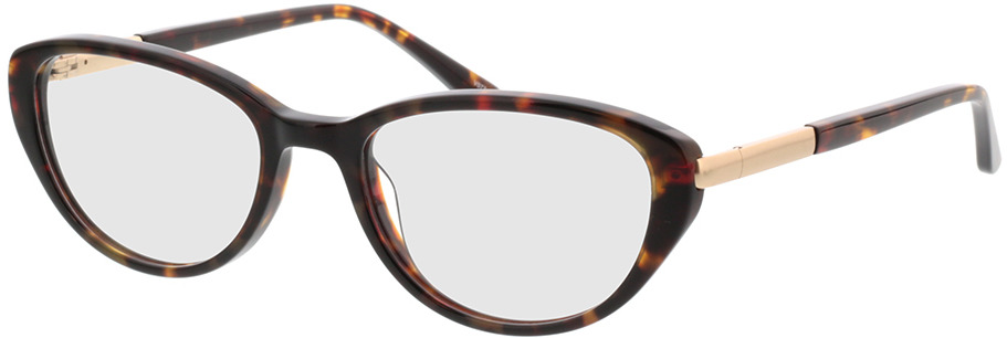 Picture of glasses model Gloria bruin gevlekt/Goud in angle 330