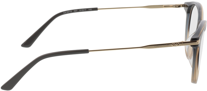 Picture of glasses model Calvin Klein CK19712 027 51-17 in angle 90