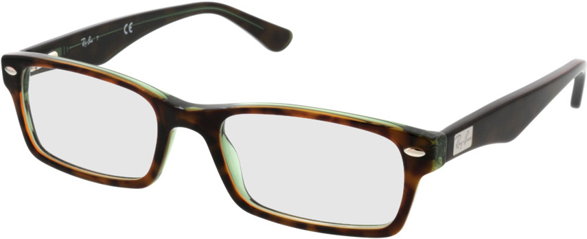 Picture of glasses model Ray-Ban RX5206 2445 52-18 in angle 330
