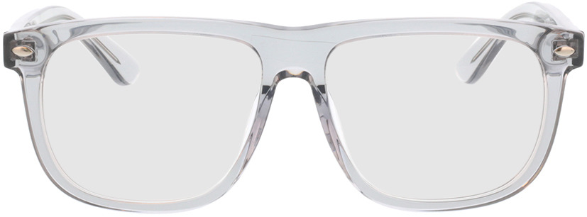 Picture of glasses model Minsk-gris-transparent in angle 0