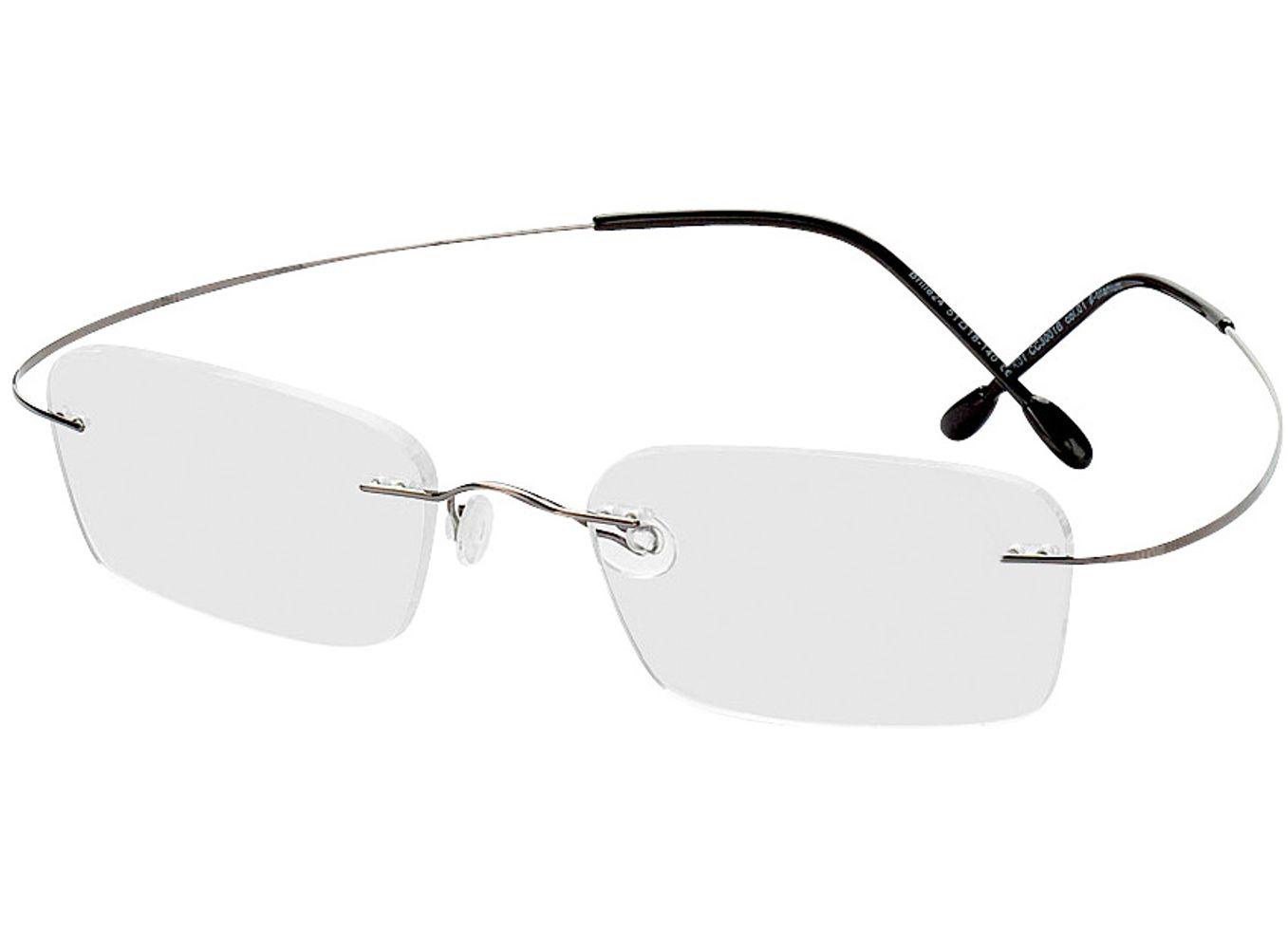 1096-singlevision-0000 Mackay-grau Gleitsichtbrille, Randlos, Rechteckig Brille24 Collection