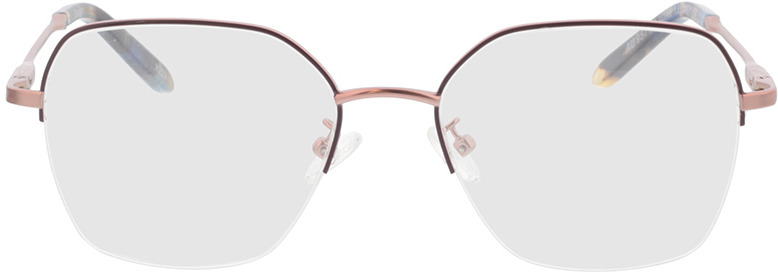 Picture of glasses model Electra-rosegold/lila/blau-meliert in angle 0