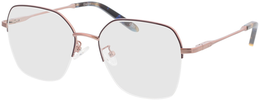 Picture of glasses model Electra-rosegold/lila/blau-meliert in angle 330