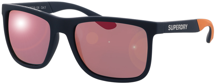 Picture of glasses model Superdry SDS Runnerx 105P rubberised navy/orange 56-19 in angle 330