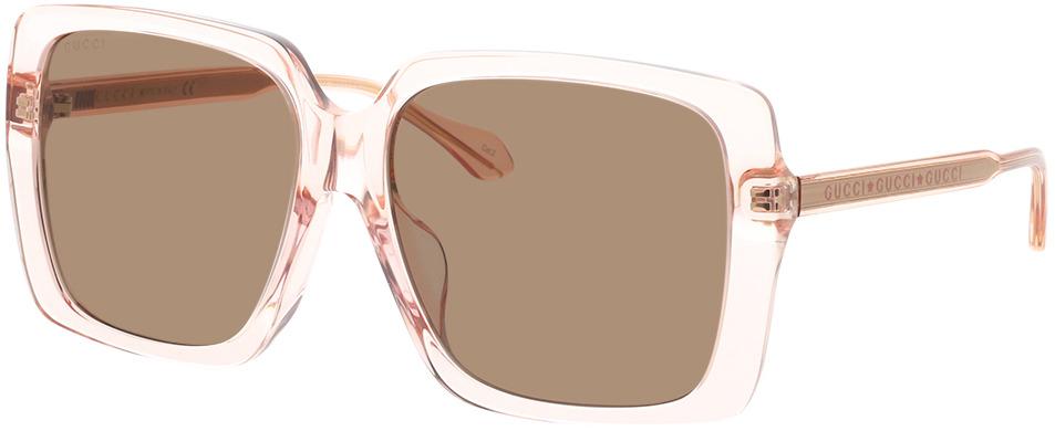 Picture of glasses model Gucci GG0567SA-004 58-16 in angle 330