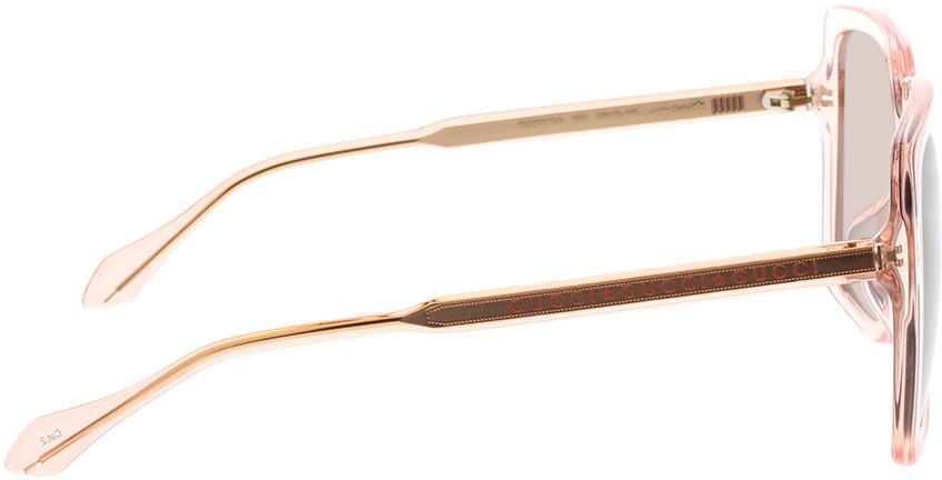 Picture of glasses model Gucci GG0567SA-004 58-16 in angle 90