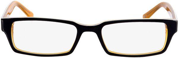 Picture of glasses model Capuno-black-orange in angle 0