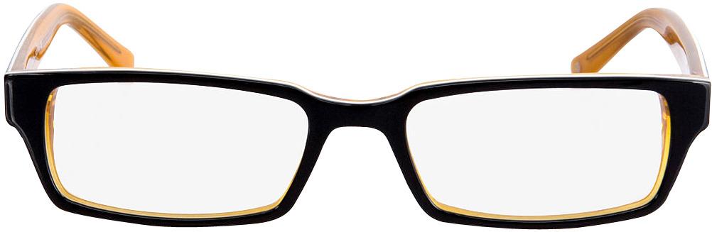 Picture of glasses model Capuno black/orange in angle 0