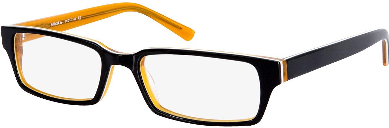 Picture of glasses model Capuno black/orange in angle 330