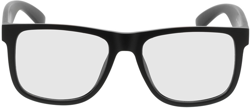 Picture of glasses model New Orleans-mattschwarz in angle 0