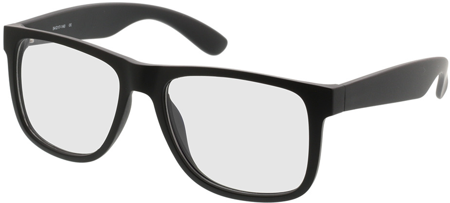 Picture of glasses model New Orleans-mattschwarz in angle 330
