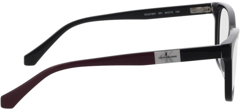 Picture of glasses model Calvin Klein Jeans CKJ21621 001 54-15 in angle 90