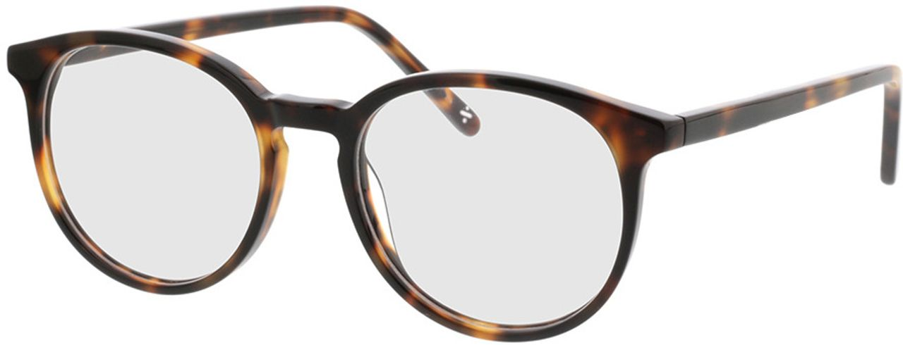 Picture of glasses model Topaz-braun-meliert in angle 330