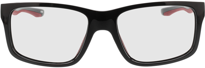 Picture of glasses model Beat-schwarz/rot in angle 0