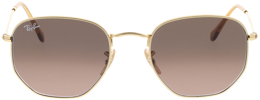Picture of glasses model Ray-Ban Hexagonal Flat Lenses RB3548N 912443 54-21 in angle 0