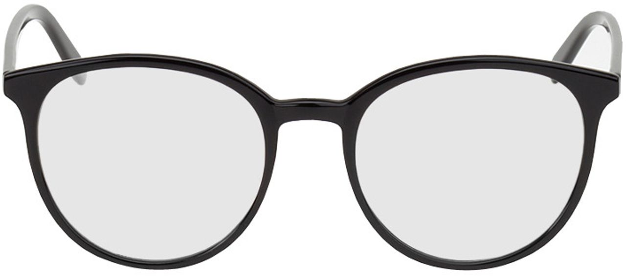 Picture of glasses model New York-schwarz in angle 0