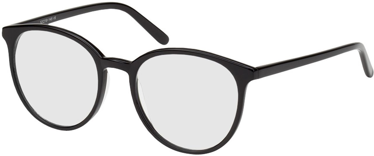 Picture of glasses model New York-schwarz in angle 330