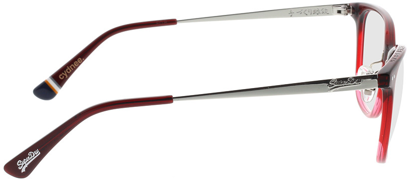 Picture of glasses model Superdry SDO Cydnee 160 vermelho 52-17 in angle 90