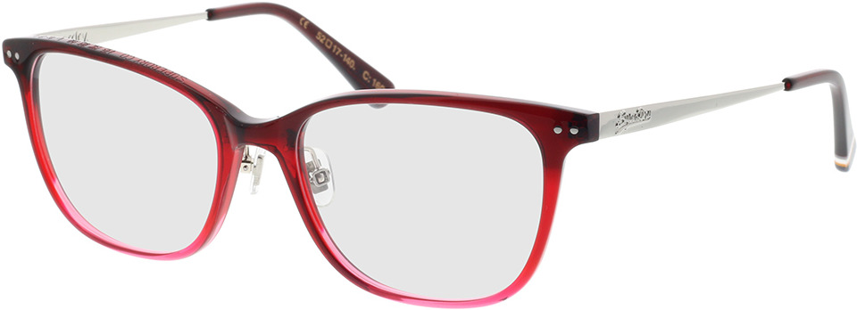 Picture of glasses model Superdry SDO Cydnee 160 vermelho 52-17 in angle 330