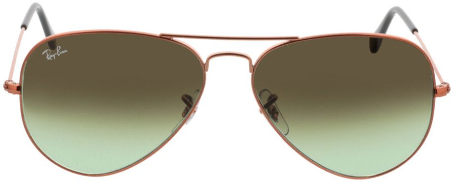 Picture of glasses model Ray-Ban Aviator RB3025 9002A6 58-14 in angle 0