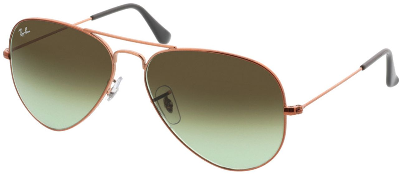 Picture of glasses model Ray-Ban Aviator RB3025 9002A6 58-14 in angle 330