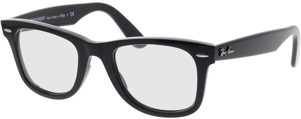 Picture of glasses model Ray-Ban Wayfarer Ease RX4340V 2000 50-22 in angle 330