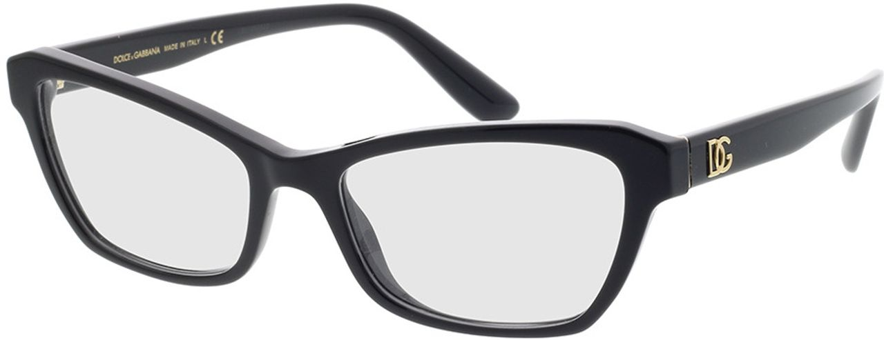 Picture of glasses model Dolce&Gabbana DG3328 501 53-17 in angle 330