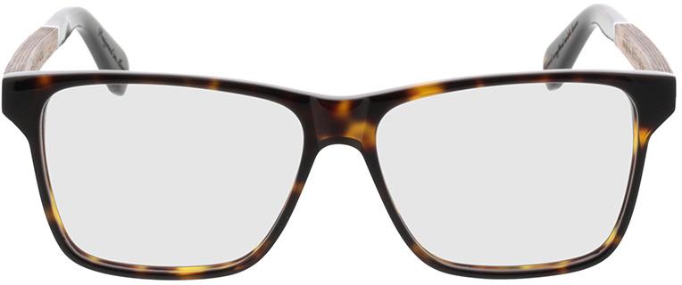 Picture of glasses model Wood Fellas Optical Waldau walnut/havana 53-12 in angle 0