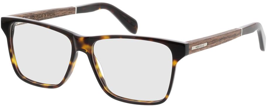 Picture of glasses model Wood Fellas Optical Waldau walnut/havana 53-12 in angle 330