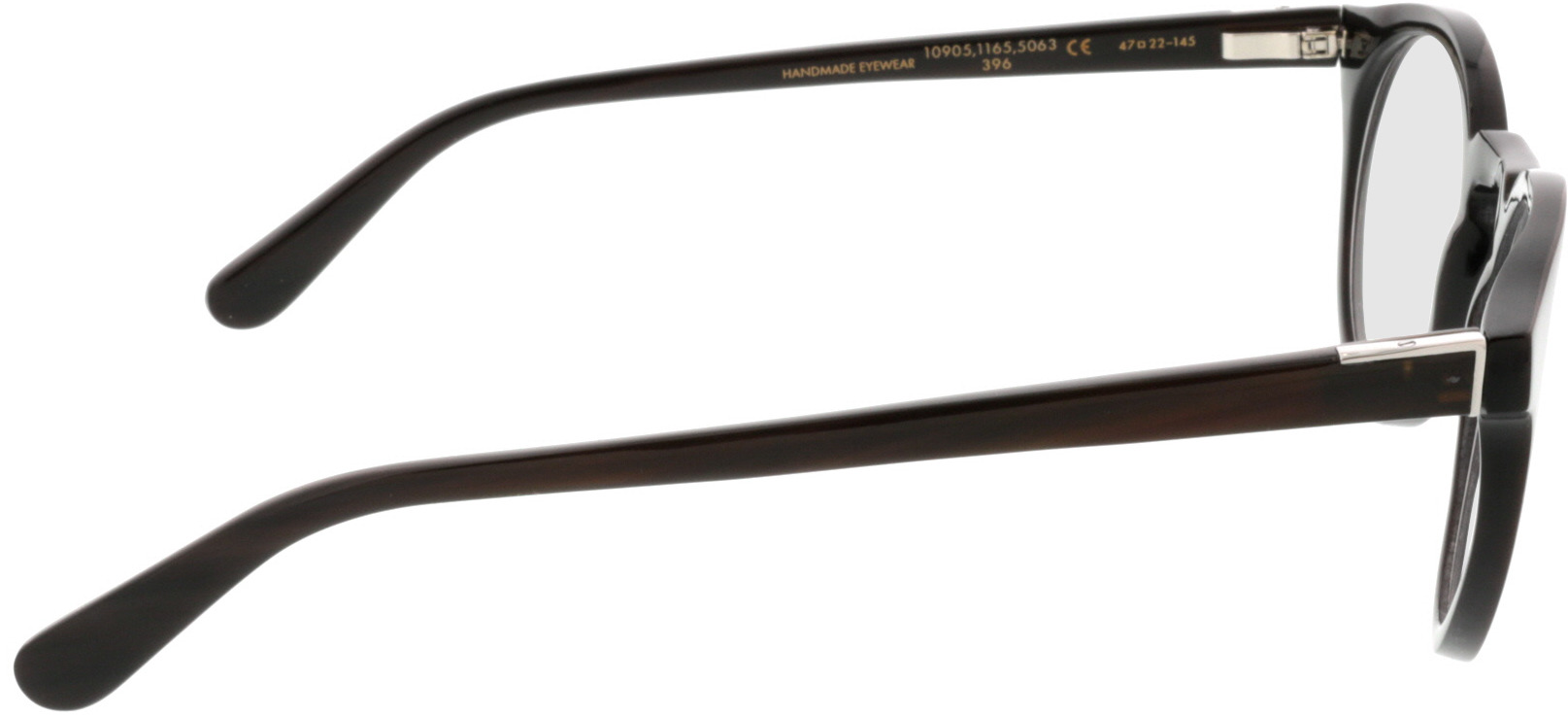 Picture of glasses model Wood Fellas Horn Optical Stiglmaier donker bruin 47 22 in angle 90