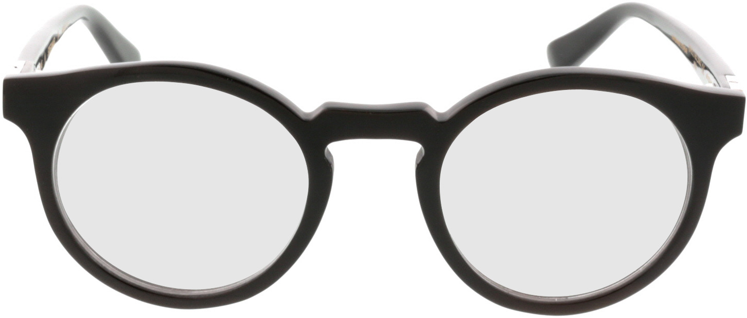 Picture of glasses model Wood Fellas Horn Optical Stiglmaier donker bruin 47 22 in angle 0