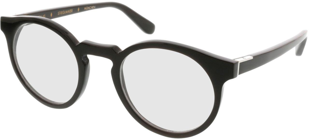 Picture of glasses model Wood Fellas Optical Stiglmaier dark brown 47-22 in angle 330