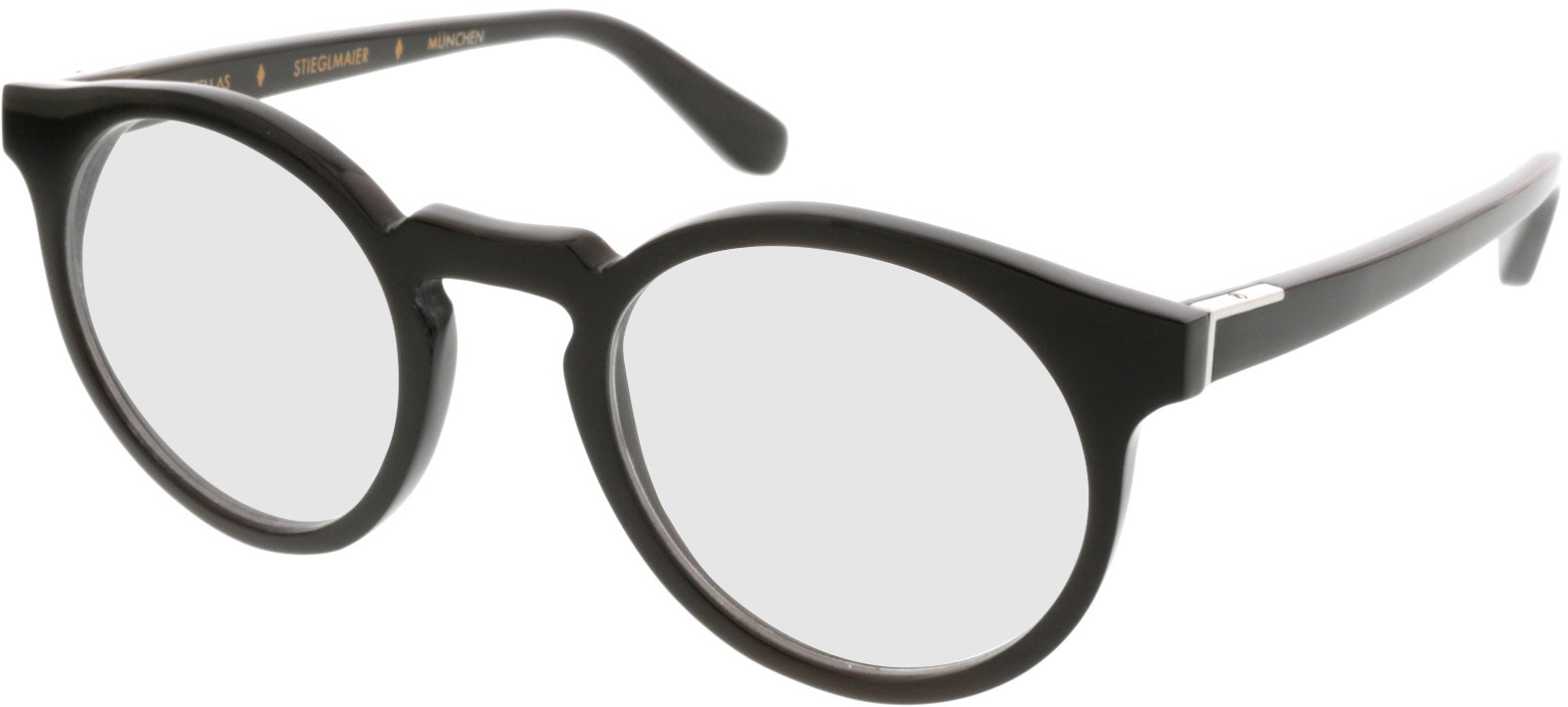 Picture of glasses model Wood Fellas Horn Optical Stiglmaier donker bruin 47 22 in angle 330