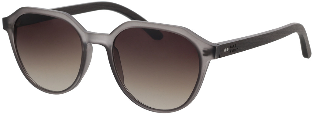 Picture of glasses model TAKE A SHOT Helena: Schwarzes Eichenholz 52-19 in angle 330