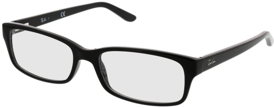 Picture of glasses model Ray-Ban RX5187 2000 52-16 in angle 330