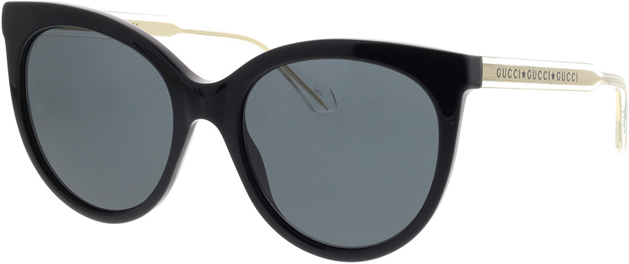 Picture of glasses model Gucci GG0565S-001 54-19 in angle 330