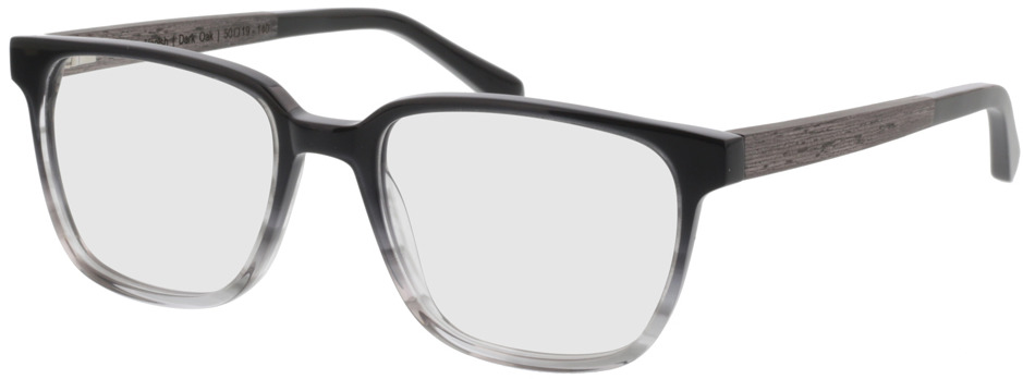 Picture of glasses model TAKE A SHOT Faro Grey Vanish RX: Schwarzes Eichenholz 50-19 in angle 330