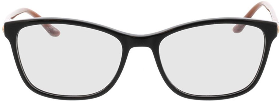 Picture of glasses model Terra-schwarz/rot in angle 0