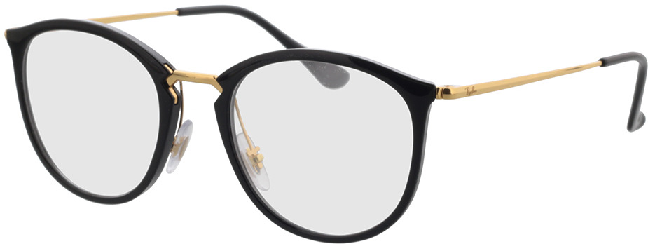Picture of glasses model Ray-Ban RX7140 2000 51-20 in angle 330