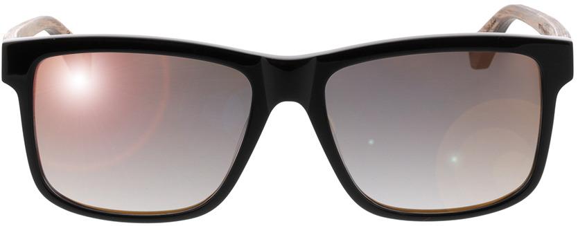 Picture of glasses model Wood Fellas Sunglasses Blumenberg walnut/zwart 56-17 in angle 0