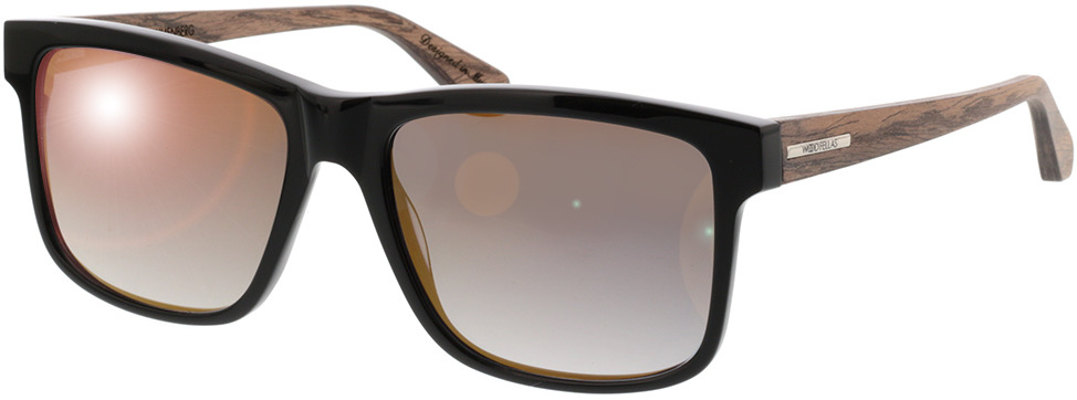 Picture of glasses model Wood Fellas Sunglasses Blumenberg walnut/zwart 56-17 in angle 330