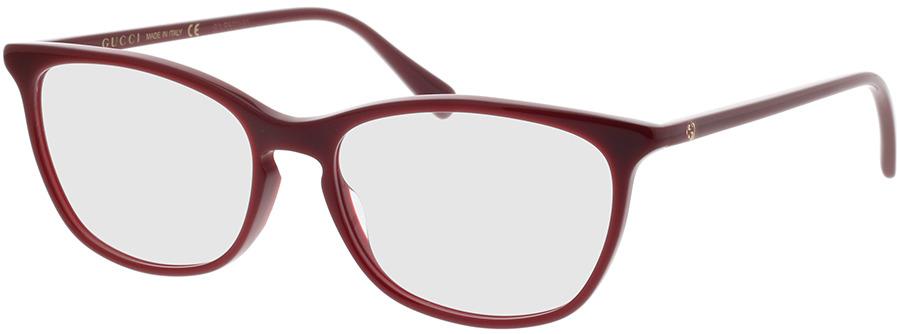 Picture of glasses model Gucci GG0549O-010 54-16 in angle 330