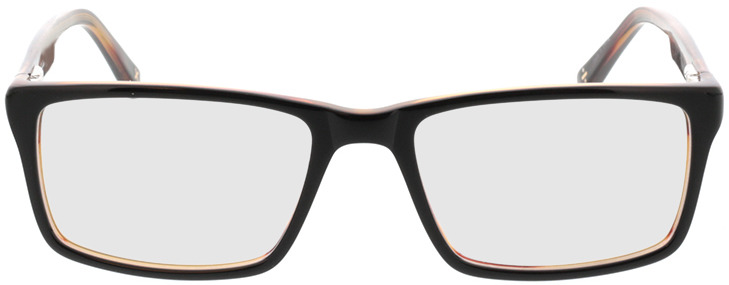 Picture of glasses model Lamark-schwarz braun in angle 0
