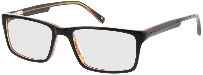 Picture of glasses model Lamark-schwarz braun in angle 330