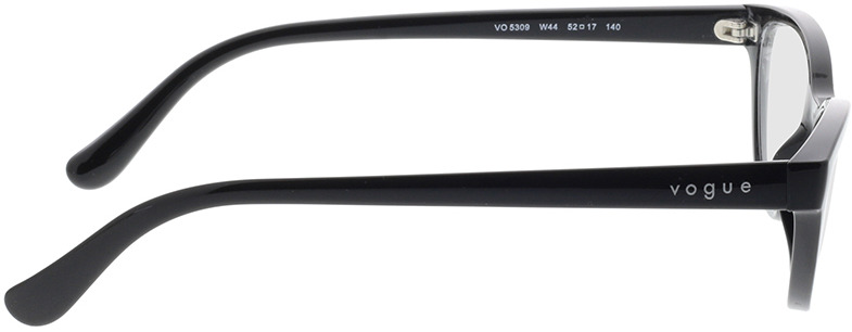 Picture of glasses model Vogue VO5309 W44 52-17 in angle 90