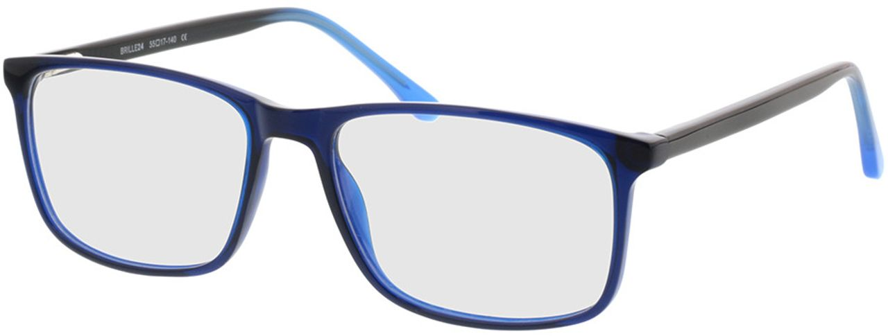 Picture of glasses model Gotland-blue in angle 330