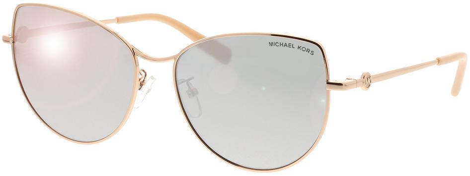 Picture of glasses model Michael Kors La Paz MK1062 11086G 58-16 in angle 330
