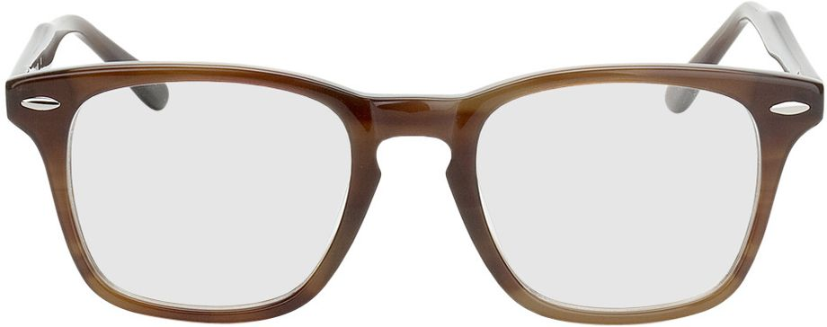 Picture of glasses model Heredia brown in angle 0